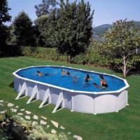 Piscina Elevada Acero Blanco Oval. ATLANTIS 610X375X132 cm - KITPROV618 Gre