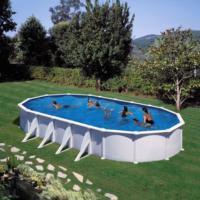Piscina Elevada Acero Blanco Oval. ATLANTIS 500X300X132 cm - KITPROV508 Gre